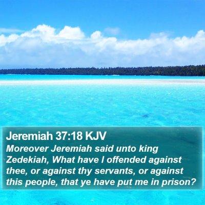 Jeremiah 37:18 KJV Bible Verse Image