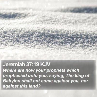 Jeremiah 37:19 KJV Bible Verse Image