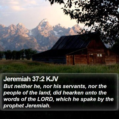 Jeremiah 37:2 KJV Bible Verse Image
