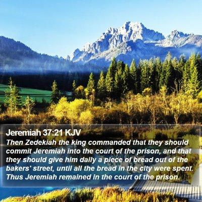 Jeremiah 37:21 KJV Bible Verse Image