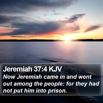 Jeremiah 37:4 KJV Bible Verse Image