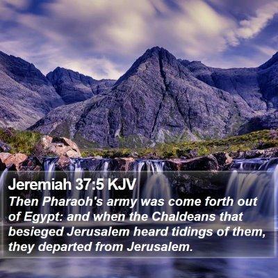 Jeremiah 37:5 KJV Bible Verse Image