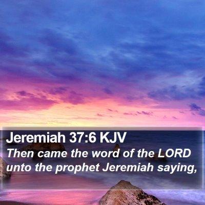 Jeremiah 37:6 KJV Bible Verse Image