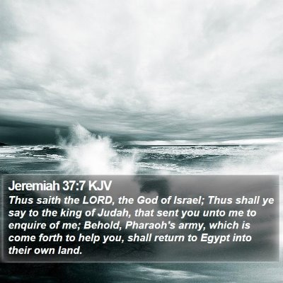 Jeremiah 37:7 KJV Bible Verse Image