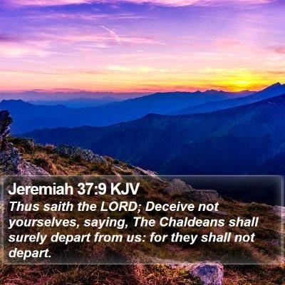 Jeremiah 37:9 KJV Bible Verse Image