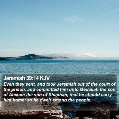 Jeremiah 39:14 KJV Bible Verse Image
