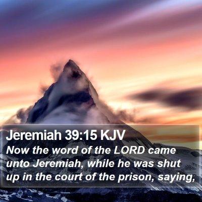 Jeremiah 39:15 KJV Bible Verse Image