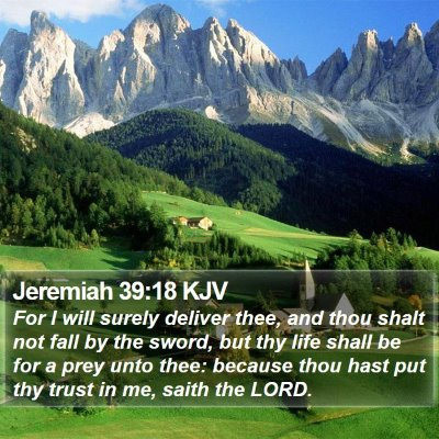 Jeremiah 39:18 KJV Bible Verse Image