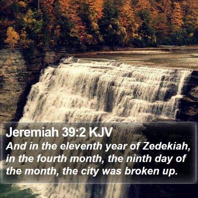 Jeremiah 39:2 KJV Bible Verse Image