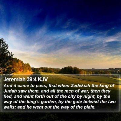 Jeremiah 39:4 KJV Bible Verse Image