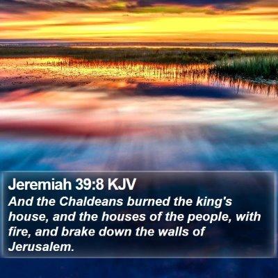 Jeremiah 39:8 KJV Bible Verse Image