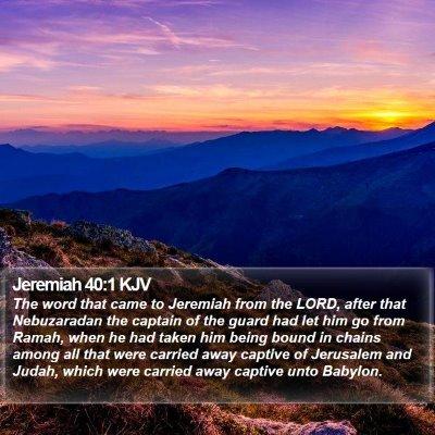Jeremiah 40:1 KJV Bible Verse Image