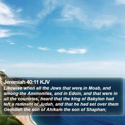 Jeremiah 40:11 KJV Bible Verse Image
