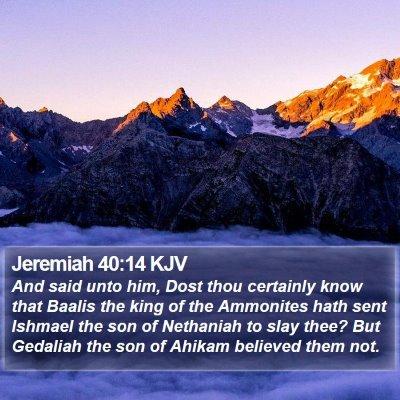 Jeremiah 40:14 KJV Bible Verse Image