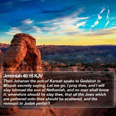 Jeremiah 40:15 KJV Bible Verse Image