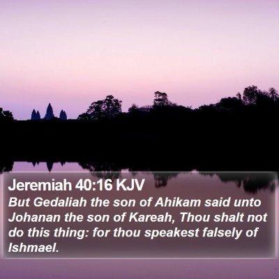 Jeremiah 40:16 KJV Bible Verse Image