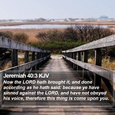 Jeremiah 40:3 KJV Bible Verse Image