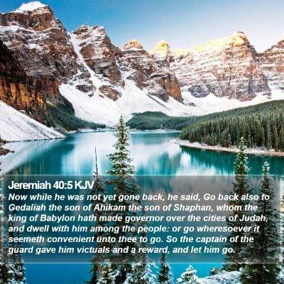 Jeremiah 40:5 KJV Bible Verse Image