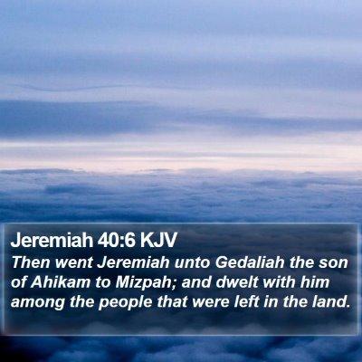 Jeremiah 40:6 KJV Bible Verse Image