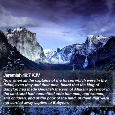 Jeremiah 40:7 KJV Bible Verse Image