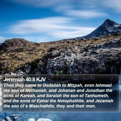 Jeremiah 40:8 KJV Bible Verse Image