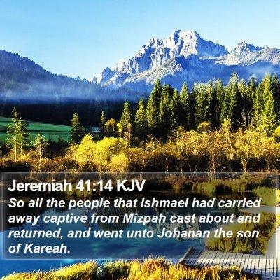 Jeremiah 41:14 KJV Bible Verse Image