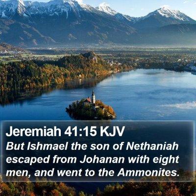 Jeremiah 41:15 KJV Bible Verse Image