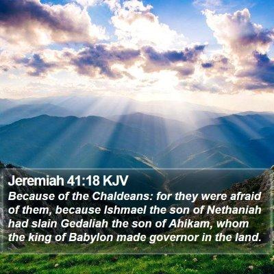 Jeremiah 41:18 KJV Bible Verse Image