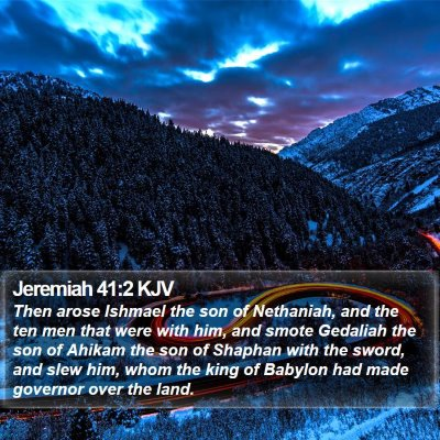 Jeremiah 41:2 KJV Bible Verse Image