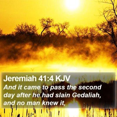 Jeremiah 41:4 KJV Bible Verse Image