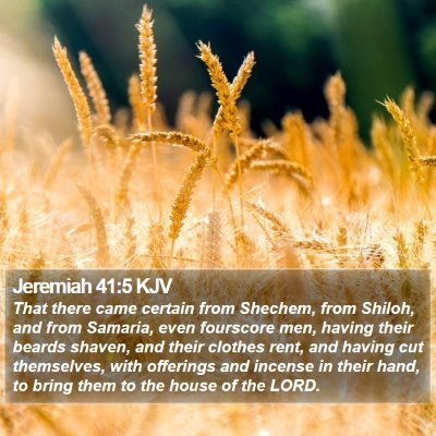 Jeremiah 41:5 KJV Bible Verse Image