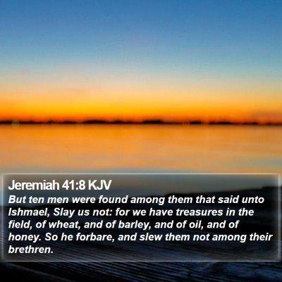 Jeremiah 41:8 KJV Bible Verse Image