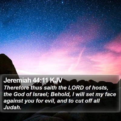 Jeremiah 44:11 KJV Bible Verse Image