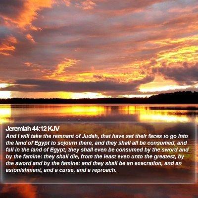 Jeremiah 44:12 KJV Bible Verse Image