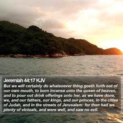 Jeremiah 44:17 KJV Bible Verse Image
