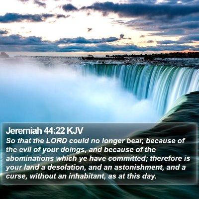 Jeremiah 44:22 KJV Bible Verse Image