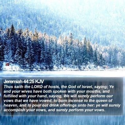 Jeremiah 44:25 KJV Bible Verse Image