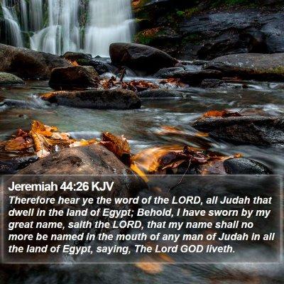 Jeremiah 44:26 KJV Bible Verse Image