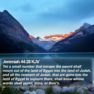 Jeremiah 44:28 KJV Bible Verse Image