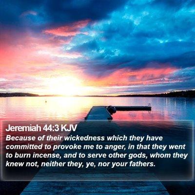 Jeremiah 44:3 KJV Bible Verse Image