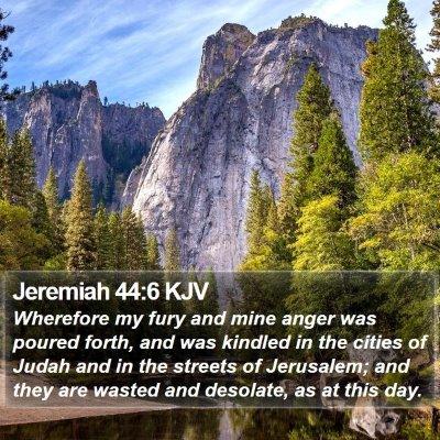 Jeremiah 44:6 KJV Bible Verse Image