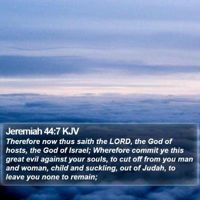 Jeremiah 44:7 KJV Bible Verse Image