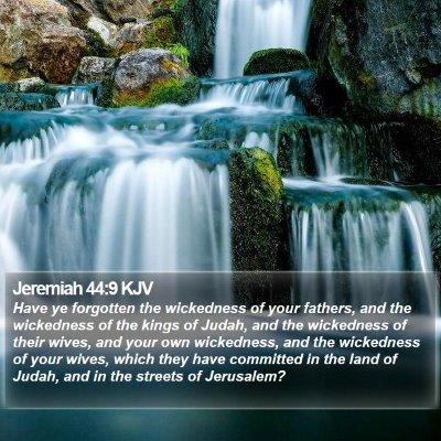 Jeremiah 44:9 KJV Bible Verse Image