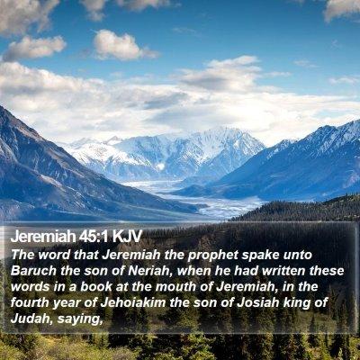Jeremiah 45:1 KJV Bible Verse Image