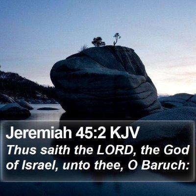 Jeremiah 45:2 KJV Bible Verse Image