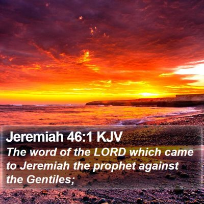 Jeremiah 46:1 KJV Bible Verse Image