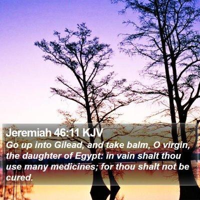 Jeremiah 46:11 KJV Bible Verse Image