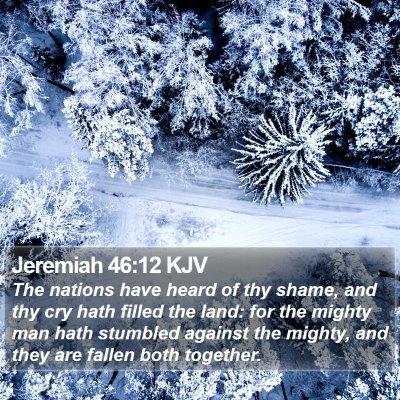 Jeremiah 46:12 KJV Bible Verse Image