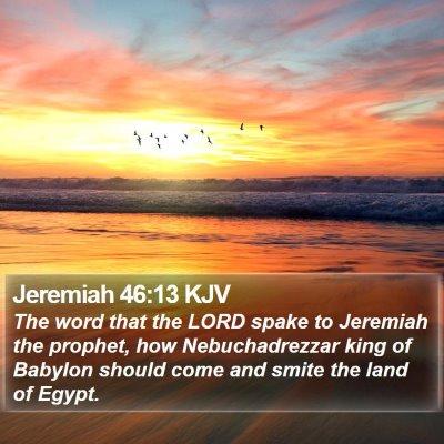 Jeremiah 46:13 KJV Bible Verse Image