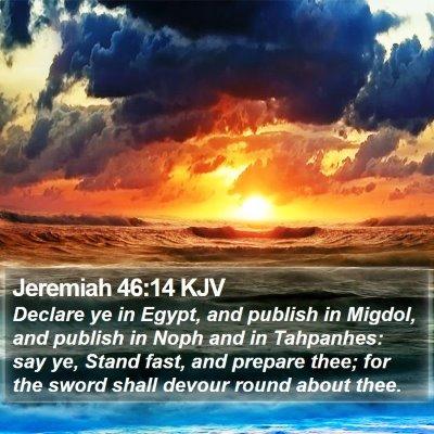 Jeremiah 46:14 KJV Bible Verse Image